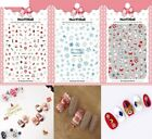 Women's Christmas Nails Art Manicure Glue Decal Sticker For Nails Tips Beauty
