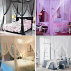 4 Corner Post Bed Canopy Cover Mosquito Net Full Queen King Size Outdoors Net image
