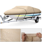 VIVOHOME 600D Waterproof Boat Cover V-Hull Fishing Ski Trailerable Bass Outdoor image