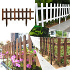 Wooden Picket Fence Garden Lawn Edging Yard Outdoor Tree Fencing 50cm /100cm