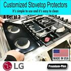 LG Stove Protectors, Custom cut to fit your Stove, Lifetime Warranty photo