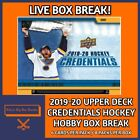 2019-20 UPPER DECK CREDENTIALS HOCKEY HOBBY BOX BREAK #10 $8.99 CAD on eBay
