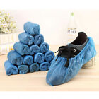 Shoe Covers Disposable 100 Pieces Booties Non Slip Overshoes Blue HOT NEW Wproof