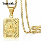 14k Gold Plated Initial Letter A-z Pendant Necklace Choker For Mens Womens Chain
