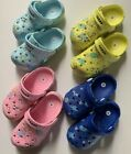 New toddler boys girls navy yellow blue pink cartoon elephant clogs slippers