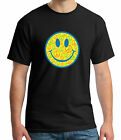 Smiley Peace Emoji Adult's T-Shirts Gift Tee size M-3XL US Men's Shirt Trend image