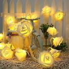 Rose Flower Battery Fairy Lights String 20 Led Wedding Xmas Party Home Decor Uk