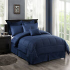 10-Piece Comforter Set Reversible Bedding Bed Sheets King/Cal King SALE!!