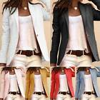 Women Office Formal Collar Blazer Suit Slim Jacket Tops Casual Cardigan Coat New
