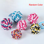 Dog toys Pets Rope Ball Bite Ball Colorful Cotton Pet Puppy Chew Toys WFR