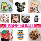 AirPods Cute Animal Food Cartoon Silicone Case Skin Cover for Apple Airpod 1/2 $7.99  on eBay