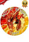 THE FLASH DC COMIC PERSONALISED BIRTHDAY CAKE TOPPER NAME AGE