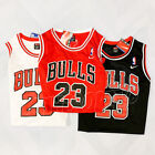 Michael Jordan #23 Chicago Bulls Team Classic Jersey Mens Retro Red Wht Blk USA