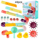 DIY Race Track Suction Cup Baby Bath Toy Watering Spray Tool Shower Games K