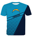 Sports Los Angeles Chargers Football T-Shirt Mens Casual Short Sleeve TShirt Top $18.04 USD on eBay