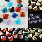 Wholesale Faceted Glass Crystal Butterfly Design Bead Spacer Finding Charms 14mm