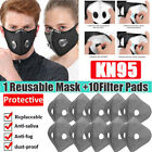 Us Breathing Valve Face Mask Reusable Washable With Activated Carbon Filter Hot