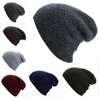 NEW Men Women Knit Baggy Beanie Oversize Winter Hat Unisex Ski Slouchy Skull