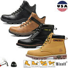 Mens Safety Work Shoes Steel Toe Boots Waterproof Leather Outdoors Water Boots