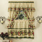 5-Piece Complete Window Kitchen Curtain Cottage Set with Tier Panels, Valance