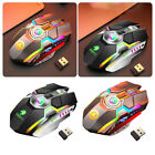 2.4ghz Wireless Game Mouse Usb Led Light Optical Ergonomic Rechargeable Au Post