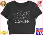Expression Tees Cancer Zodiac Star Chart Womens Cropped TShirt