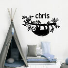 Cute Custom Name Sloth Wall Sticker Home Decoration Accessories Wall Stickers
