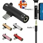 USB Type C to 3.5 mm Headphone Jack Adapter AUX Cable 2 in1 Audio Convertor uk
