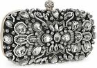 Women Noble Crystal Beaded Evening Bag Vintage Wedding Clutch Purse