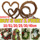 Christmas Artificial Vine Ring Wreath Rattan Wicker Garland Xmas Party Decor UK