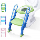 Potty Training Toilet Seat with Step Stool Ladder for Kid and Baby, Adjustable T image