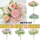 7heads Silk Peony Artificial Fake Flowers Bunch Bouquet Home Wedding Party Decor