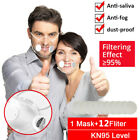 Transparent Face Mask W/ Air Valves &10x Fliter Pads Visible Mask For The Deaf