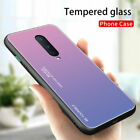 For OnePlus 8 7 7T Pro Tempered Glass Shockproof Hybrid Gradient Case Cover