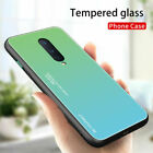 For OnePlus 8 7 7T Pro 6T 6 Tempered Glass Shockproof Hybrid Gradient Case Cover