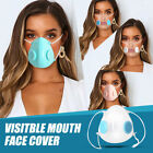 Anti-droplets Clear Air Valves Face Mask Respirator Mouth Purify &10 Fliter Pad