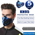 Reusable Cycling Face Mask With Active Carbon Filter Protective Adjustable Strap