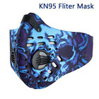 Reusable Cycling Face Mask With Active Carbon Filter Pads Protective Air Valves