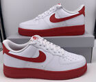 Nike Air Force 1 Low White University Red Midsole CK7663-102 Mens Size