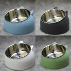 400ml Cat Bowl Raised No Slip Feeder Bowls Stainless Steel Tilted Elevated Stand
