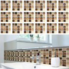 18-72x Mosaic Self-adhesive Bathroom Kitchen Decor Home Wall 3d Tile Sticker New