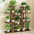 Vertical Tall Plant Stand Multi Tier Display Rack Holder Bonsai Shelf for Patio