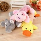 Pet Dogs Soft Chew Toy Puppy Doggy Plush Eggplant Duck Pig Squeaker Toy Funny