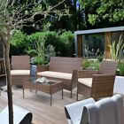 4 Seater Rattan Table Chair Garden Office Patio Lounge Pool Coffee Furniture Set