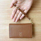 All Day Leather Card Wallet With Strap Pocket Name Card Holder Storage Purse