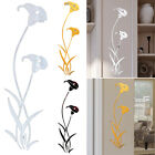 Flower Mirror Wall Sticker Acrylic Mural Decal Removable Art Home Bedoom Decor