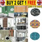 10pc Kitchen Tile Sticker Bathroom Mosaic Sticker Self-adhesive Wall Decor Home*