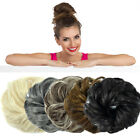 100% Natural Curly Messy Bun Hair Piece Scrunchie Thick Ponytail Hair Extensions