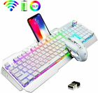 US Rechargeable Wireless Gaming Keyboard +Mouse K670 RGB Backlit 2400 DPI Silent