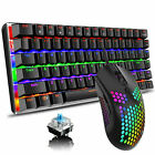 Mechanical Gaming Keyboard+Mouse Rainbow Backlit 82 keys Anti-ghosting For Gamer